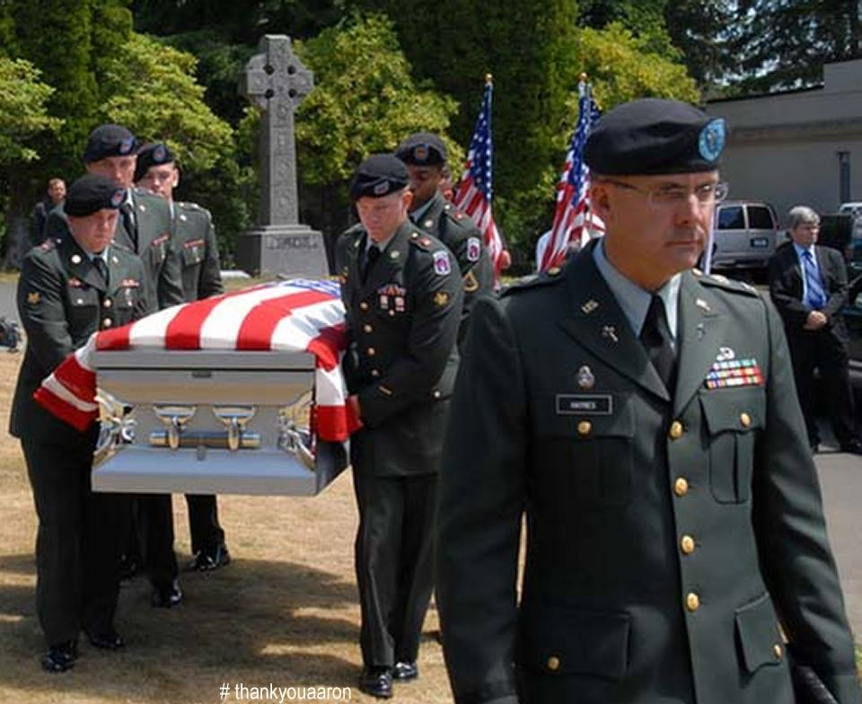 Laying PFC Aaron Fairbairn to rest KIA July 4 2009 Afghanistan
