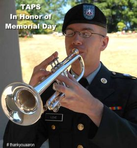 Taps in honor of memorial day Aaron Fairbairn thankyouaaron