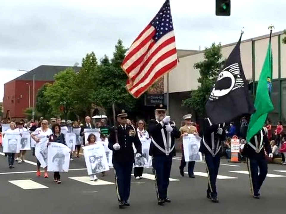 Aberdeen VFW Post 224 honors Grays Harbor KIA in Aberdeen Founders Day Parade July 2 2016 Aaron Fairbairn a